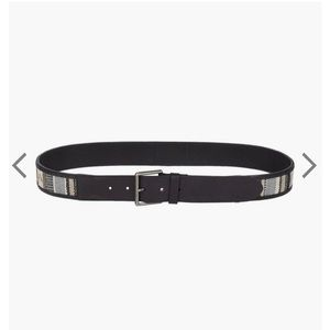 LUCKY BRAND   serape leather belt 34